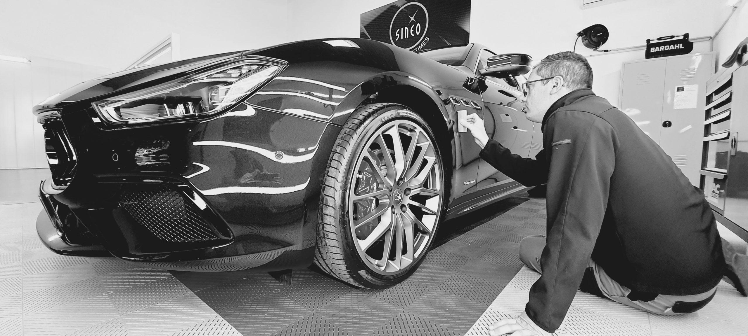 Application du traitement Céramic-Guard Cartec sur Maserati Ghibli 3 Granlusso
